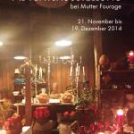 Postkarte Hofcafé Adventsausstellung 2014