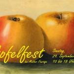 Postkarte Hofcafé Apfelfest 2002