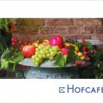 Postkarte Hofcafé Farbenfreude