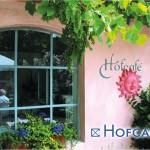 Postkarte Hofcafé Fenster zum Hof