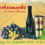 Postkarte Hofcafé Herbstmarkt 2004