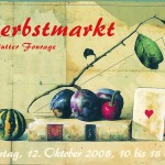 Postkarte Hofcafé Herbstmarkt 2008