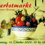 Postkarte Hofcafé Herbstmarkt 2009