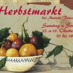 Postkarte Hofcafé Herbstmarkt 2013