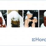 Postkarte Hofcafé kühle Köpfe