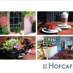 Postkarte Hofcafé vielseitiges Vergnügen