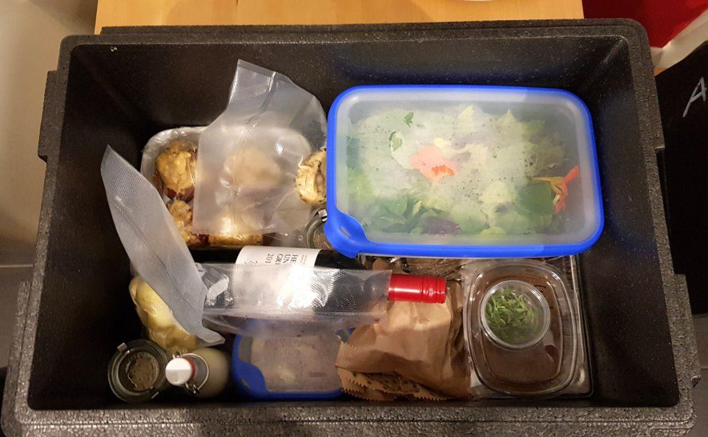 Box mit Abendessen vom Hofcafé