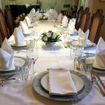 festliche Tafel bei Private Dining in Wannsee