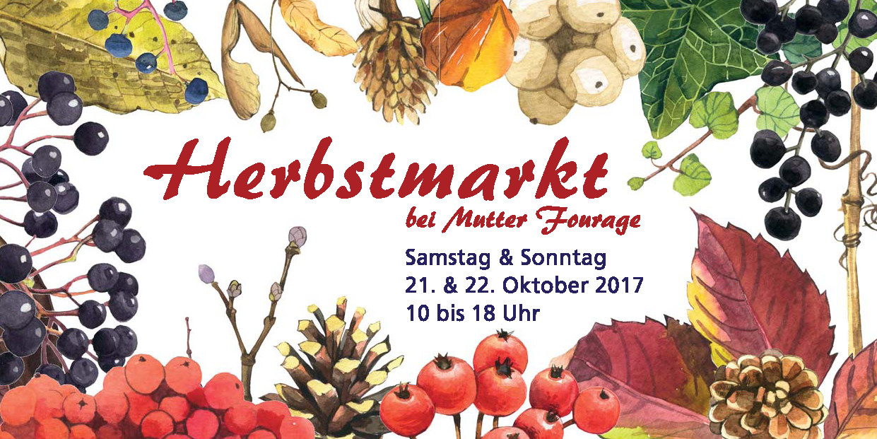 Hofcafé bei Mutter Fourage Herbstmarkt- 2017 Postkarte