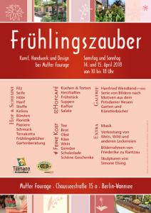 Plakat Frühlingszauber 2018