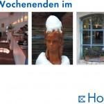 Postkarte Hofcafé Winter-Wochenende